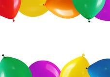 五颜六色的气球框架 免版税库存图片