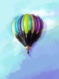 五颜六色的气球的图象 皇族释放例证