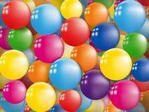 五颜六色的气球背景 库存图片