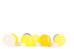 五颜六色的气球隔绝与拷贝空间 免版税库存图片