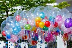 五颜六色的气球,气球 免版税库存图片