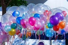 五颜六色的气球,气球 免版税库存照片
