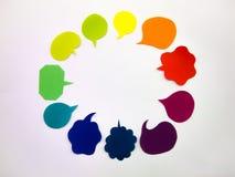 五颜六色的气球(白色背景) 免版税库存图片