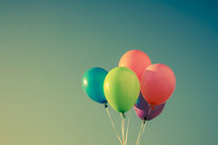 五颜六色的气球 库存图片