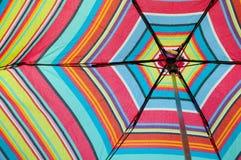 五颜六色的水平的查找的伞  库存照片