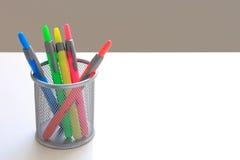 五颜六色的水平的标记 库存图片