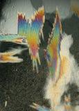 五颜六色的水晶冰 库存照片