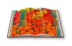五颜六色的水果和蔬菜从有机农业exhibite 库存照片