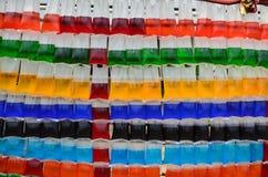 五颜六色的水 免版税库存图片