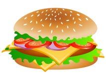 五颜六色的汉堡传染媒介例证 库存图片