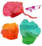 五颜六色的污点水彩 库存图片