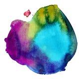 五颜六色的污点水彩 图库摄影