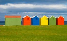 五颜六色的沐浴的小屋,开普敦 图库摄影