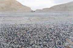 五颜六色的沙子在罗布诺尔Yardang地区 库存图片