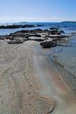 五颜六色的沙子 免版税库存图片