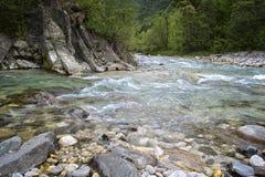 五颜六色的河 库存图片