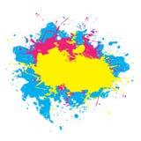 五颜六色的油漆喷溅了 库存照片