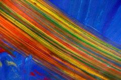 五颜六色的油漆彩虹 库存图片