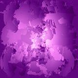 五颜六色的油漆污点 被绘的一滴水彩 紫色刷子 库存例证