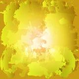 五颜六色的油漆污点 被绘的一滴水彩 黄色和o 库存例证