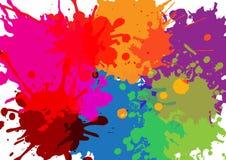 五颜六色的油漆泼溅物 绘飞溅集合 也corel凹道例证向量 皇族释放例证