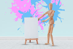 五颜六色的油漆的综合图象飞溅 免版税库存图片