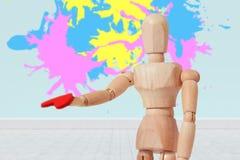 五颜六色的油漆的综合图象飞溅 免版税图库摄影