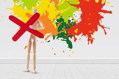 五颜六色的油漆的综合图象飞溅 库存照片