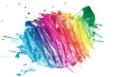 五颜六色的油漆纹理 免版税库存照片