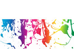 五颜六色的油漆纹理 库存照片