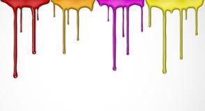 五颜六色的油漆 库存图片