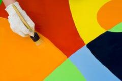五颜六色的油漆 图库摄影