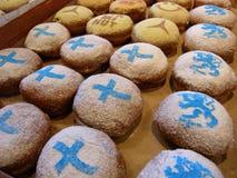 五颜六色的油炸圈饼 图库摄影