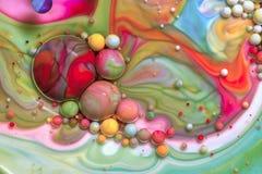 五颜六色的泡影LXIX宏观摄影  免版税库存图片