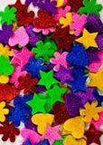 五颜六色的泡沫形状 免版税库存照片