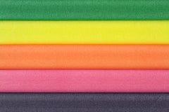 五颜六色的泡沫橡胶 免版税库存照片