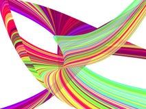 五颜六色的波浪镶边背景 免版税库存图片