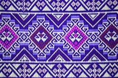 五颜六色的泰国丝绸手工造 免版税库存照片