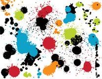 五颜六色的泼溅物 免版税库存图片