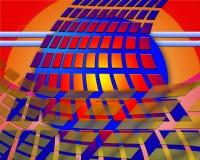 五颜六色的流的长方形 免版税库存照片
