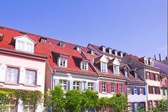 五颜六色的海得尔堡房子 图库摄影