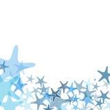 五颜六色的海海星例证 图库摄影