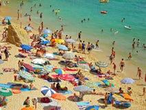 五颜六色的海滩 库存图片