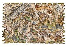 五颜六色的海盗地图 库存照片