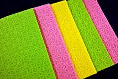 五颜六色的海绵布料 免版税库存图片
