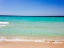 五颜六色的海边 免版税库存照片