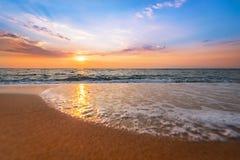 五颜六色的海洋海滩 库存图片