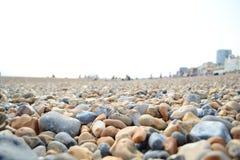 五颜六色的海滩石头 免版税库存照片