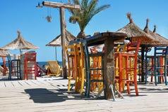 五颜六色的海滩酒吧 库存图片
