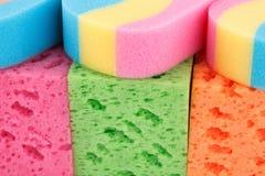 五颜六色的海绵 免版税库存图片
